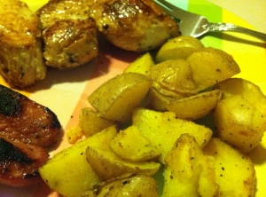 Roasted Potatoes, Rosemary chicken