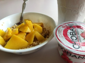 Peach Oatmeal Breakfast