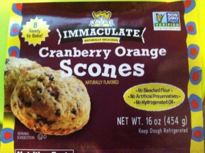 Immaculate natural scones