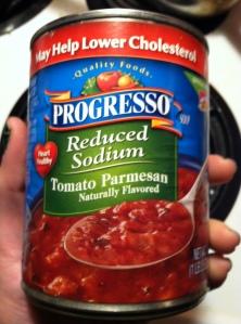 Tomato Parmesan Soup Progresso