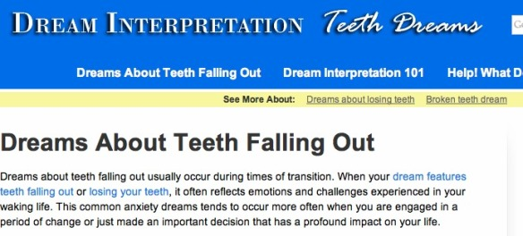 teeth dreams